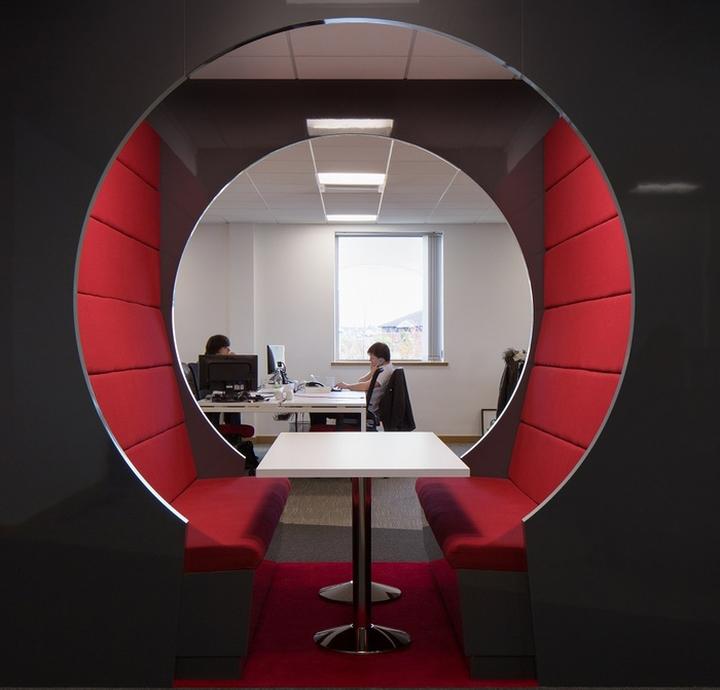 Английский интерьер рабочего офиса - необычное место для отдыха