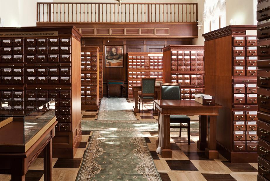 Картотечные шкафы Российской государственной библиотеки