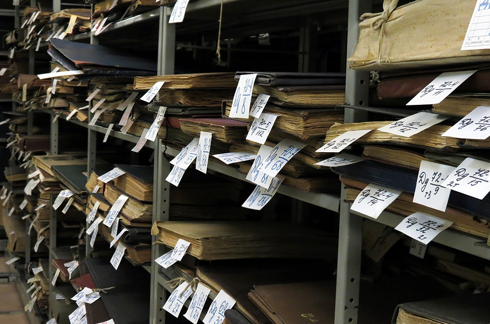 Архивные шкафы Российской государственной библиотеки