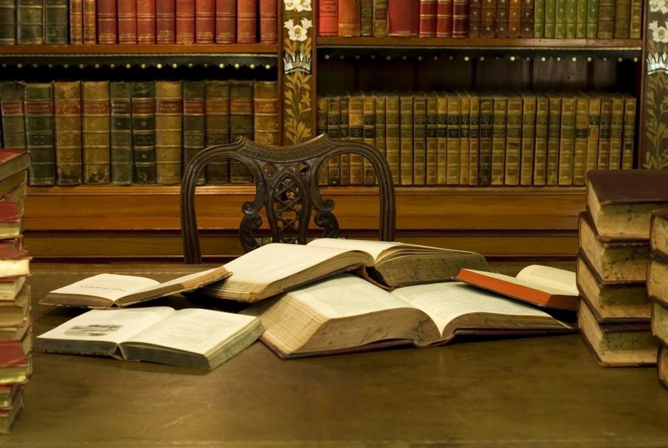 Книги в интерьере Российской государственной библиотеки