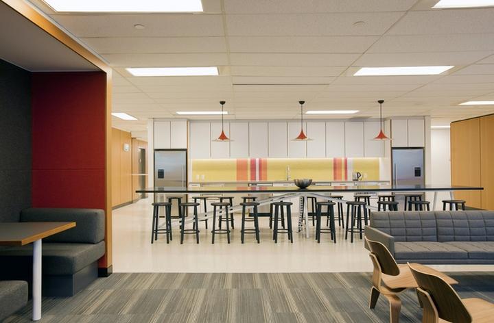 Интерьер современного офиса: обеденная зона