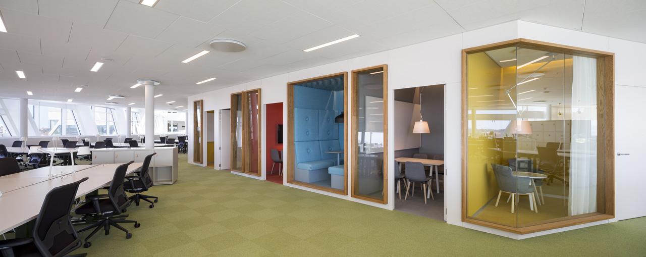 Дизайн офиса с перегородками