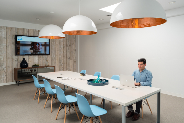 Уютный и приятный интерьер современного офиса в Калифорнии, США
