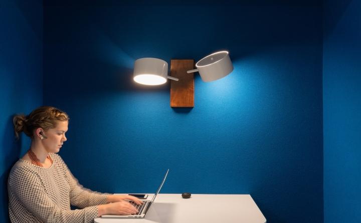 Уютный и приятный интерьер современного офиса в Калифорнии, США: спокойные оттенки