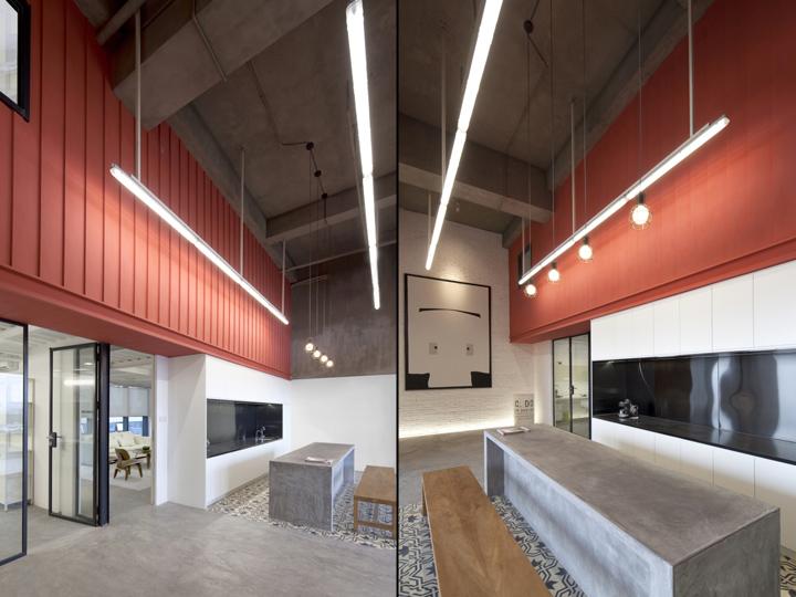 Футуристичный интерьер современного офиса в Китае: бетонные поверхности