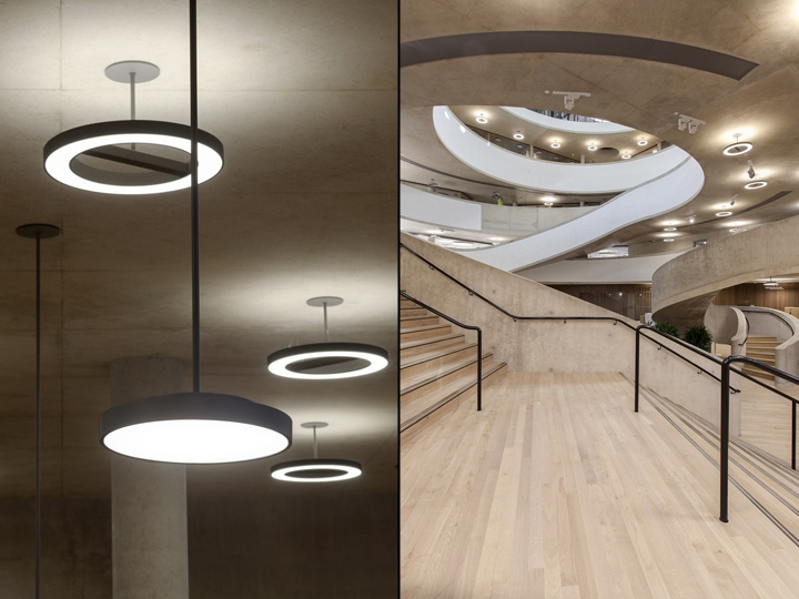 Интерьер современной школы: освещение в здании