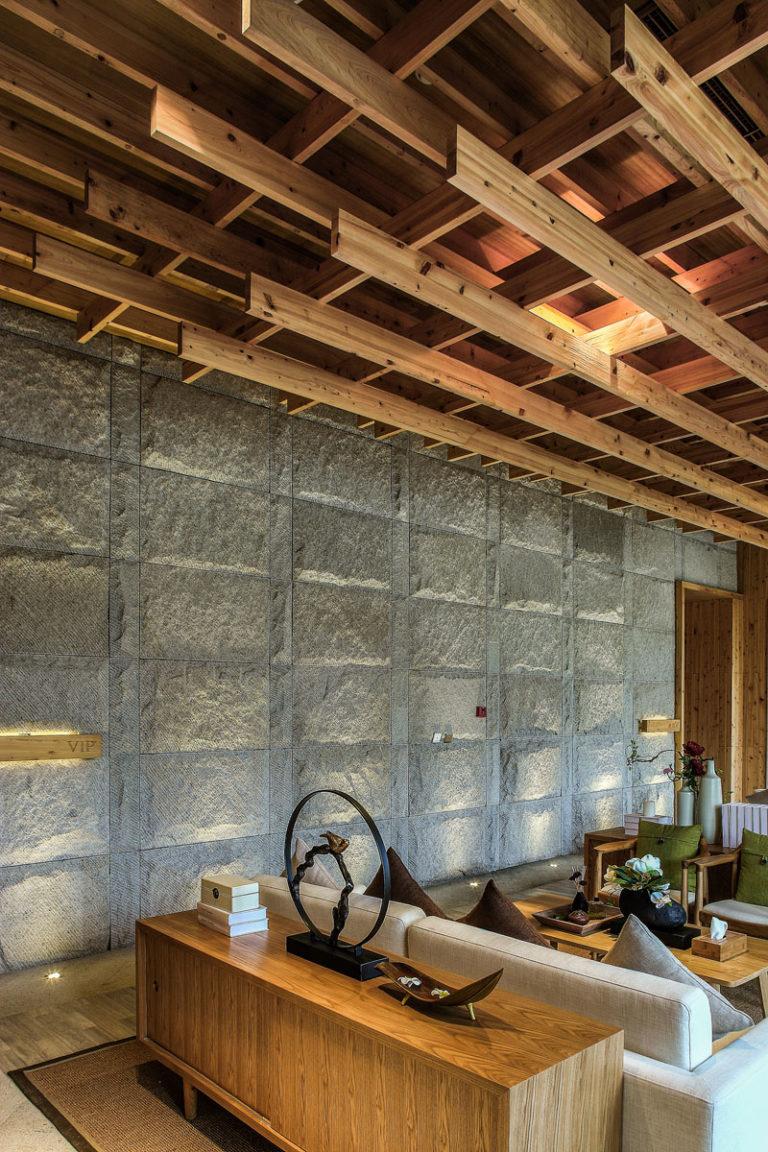 Интерьер спа салона: необычные стены