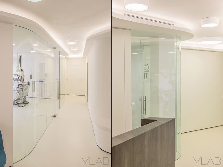 Интерьер стоматологической клиники: стеклянные стены