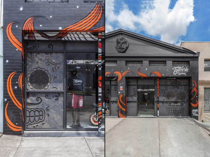 Интерьер тату-салона: фасад здания