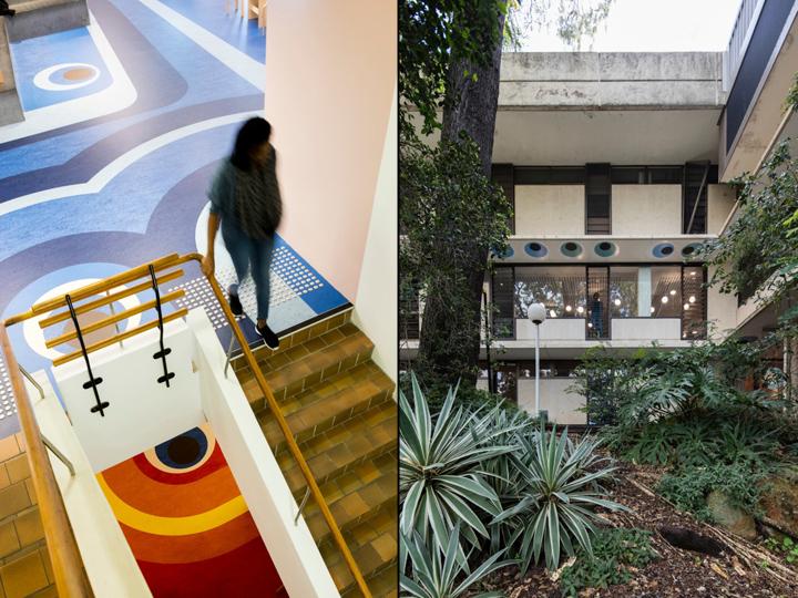 Интерьер университета: здание изнутри и снаружи