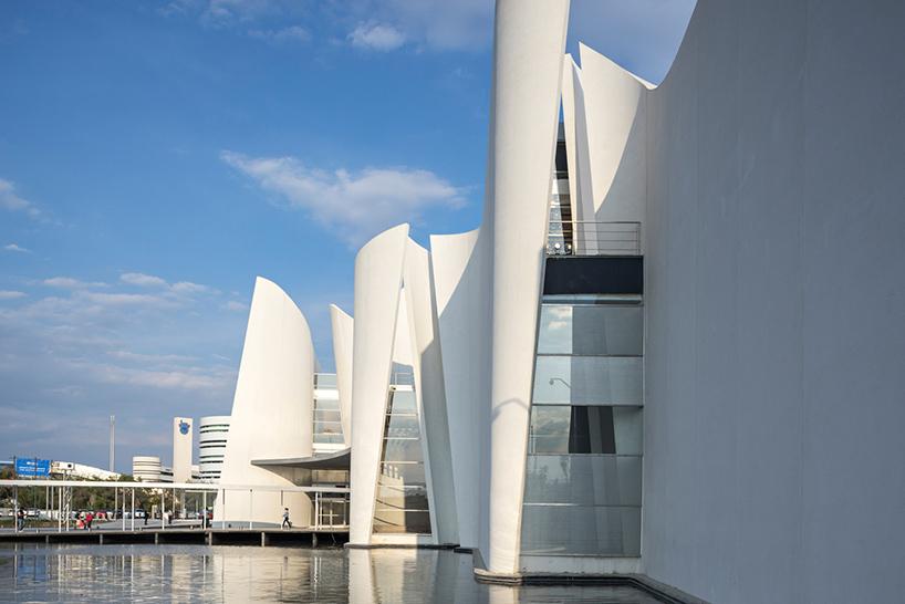 Белые бетонные стены в интерьере современных музеев