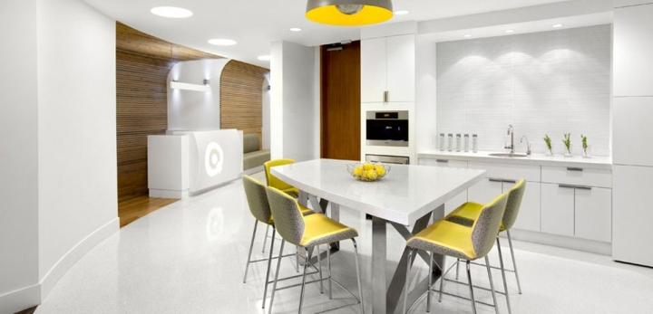 Кухонная область для сотрудников корпорации Gmetrix