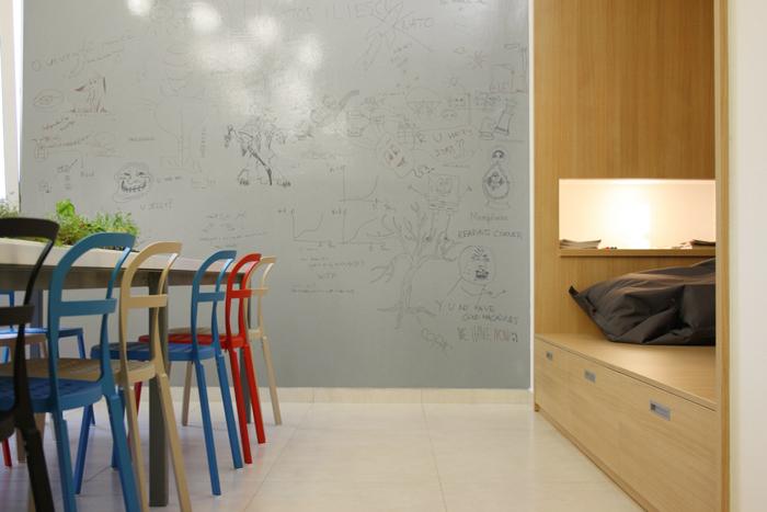 Стена-доска для рисунков