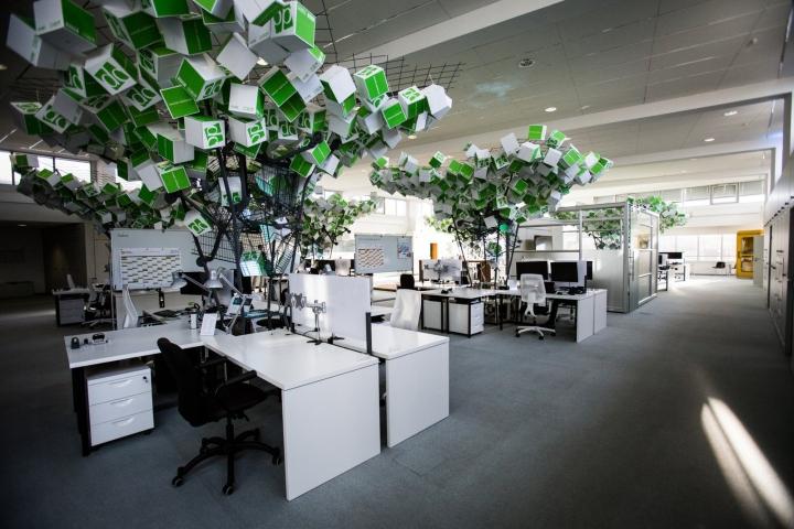 Искусственные деревья в офисе Dynamic commerce