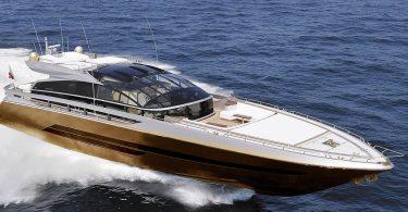Проект современной золотой яхты