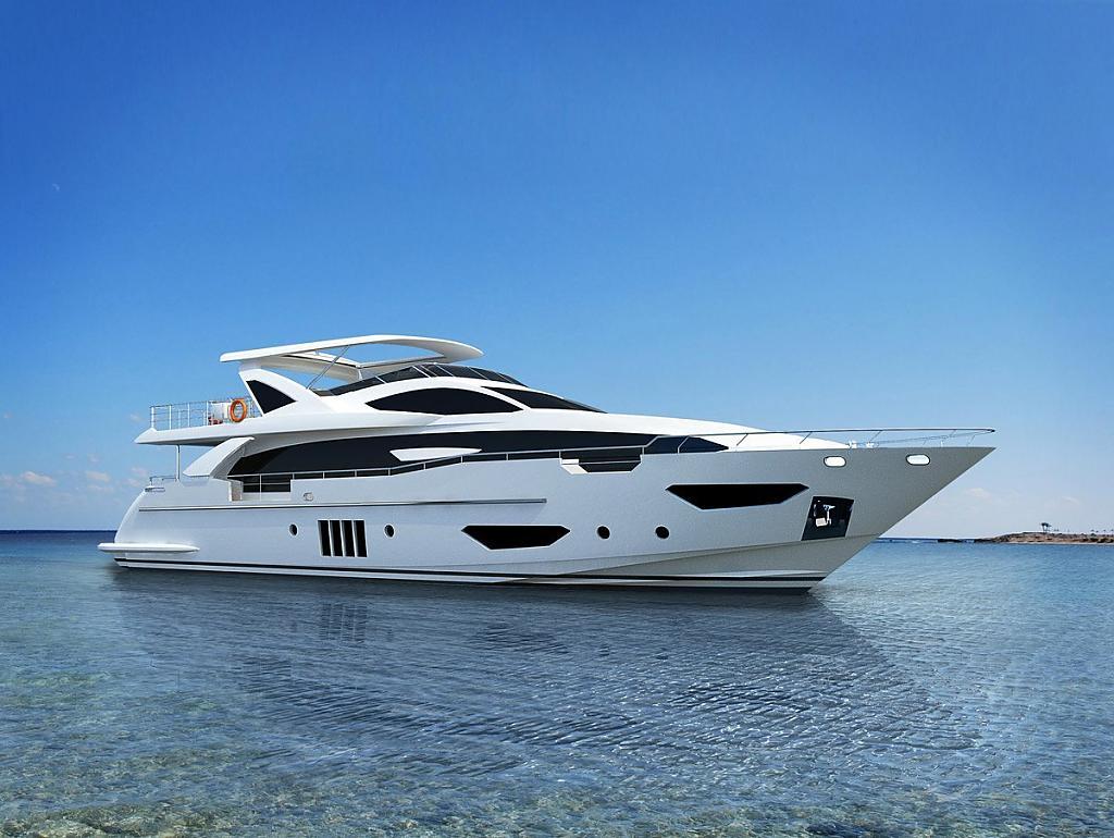 Маломерная итальянская яхта Azimut Grande 95RPH