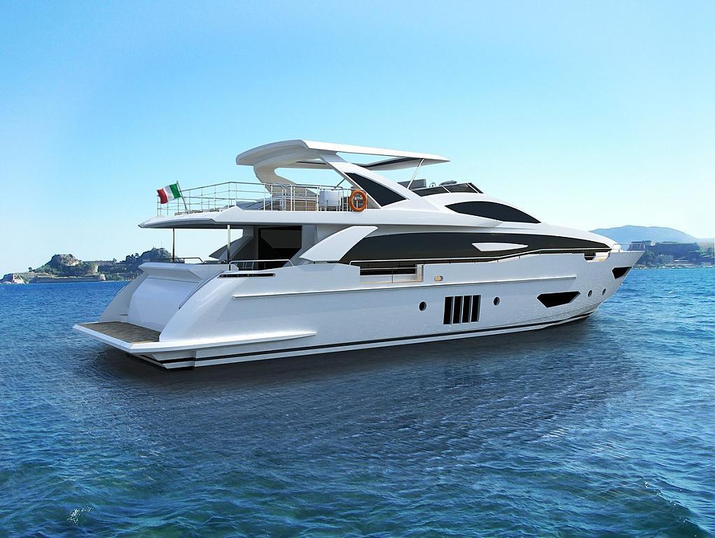 Инновационный дизайн итальянской яхты Azimut Grande 95RPH - фото 1