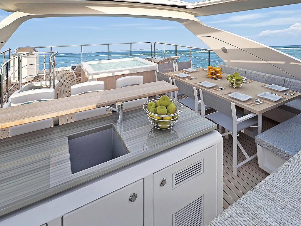 Инновационный дизайн итальянской яхты Azimut Grande 95RPH - фото 6