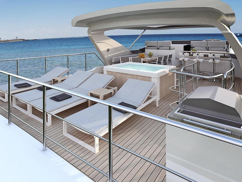 Инновационный дизайн итальянской яхты Azimut Grande 95RPH - фото 7