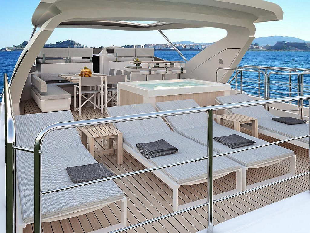 Инновационный дизайн итальянской яхты Azimut Grande 95RPH - фото 8