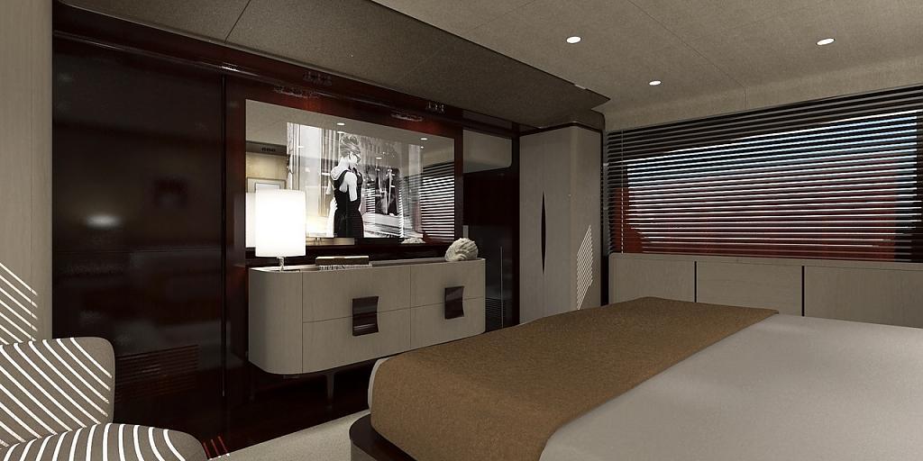 Инновационный дизайн итальянской яхты Azimut Grande 95RPH - фото 14