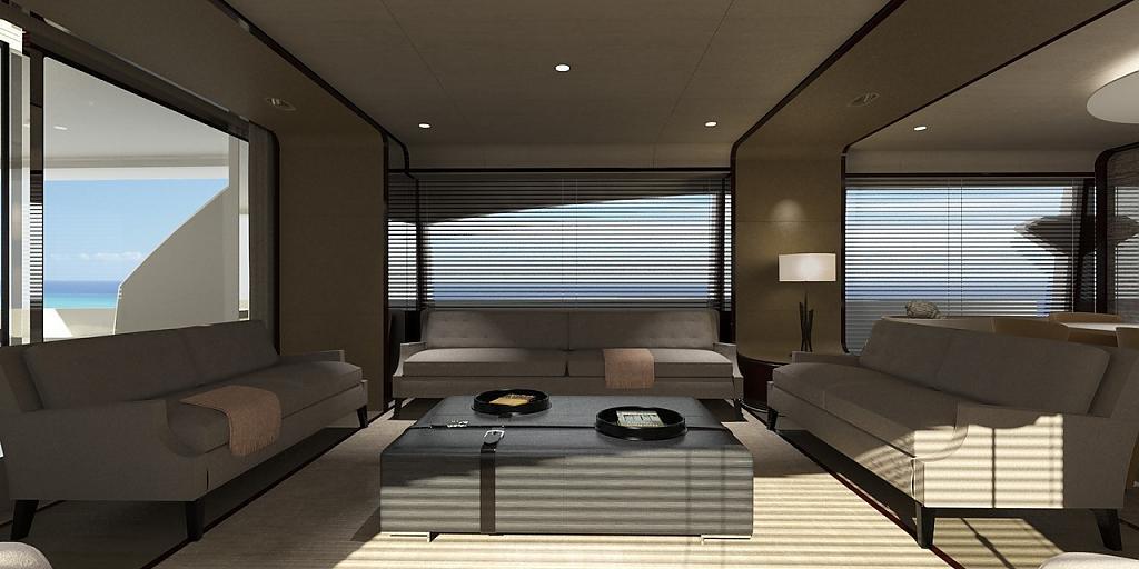 Инновационный дизайн итальянской яхты Azimut Grande 95RPH - фото 17