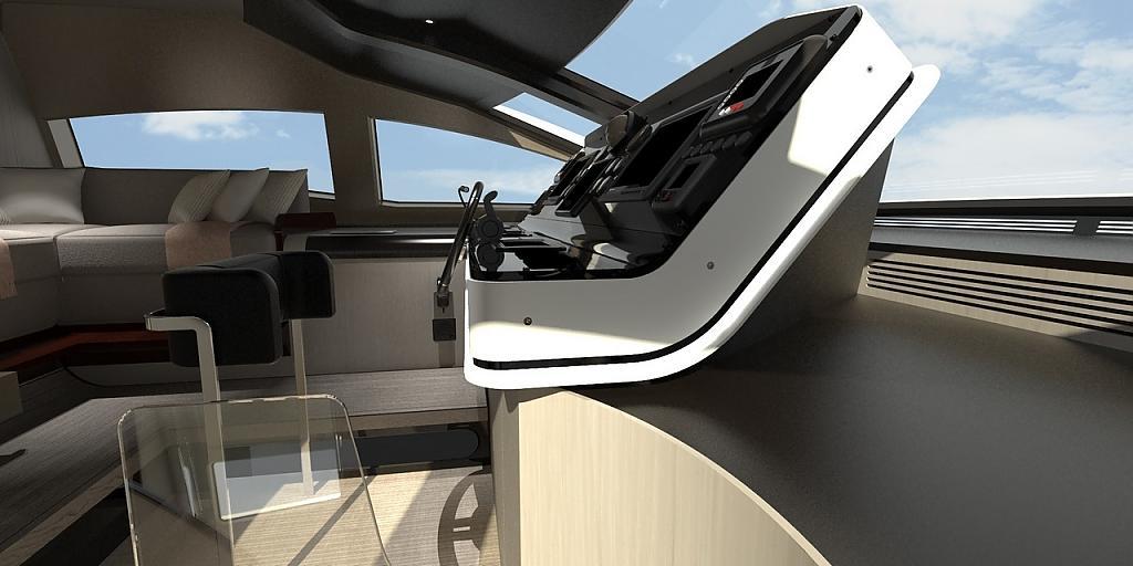 Инновационный дизайн итальянской яхты Azimut Grande 95RPH - фото 19