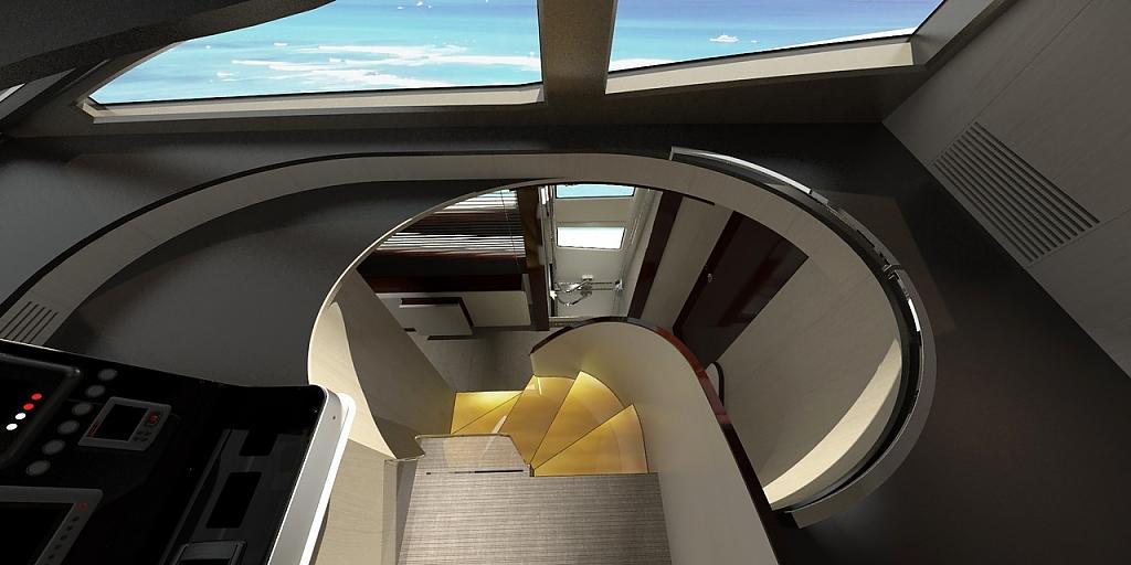 Инновационный дизайн итальянской яхты Azimut Grande 95RPH - фото 21