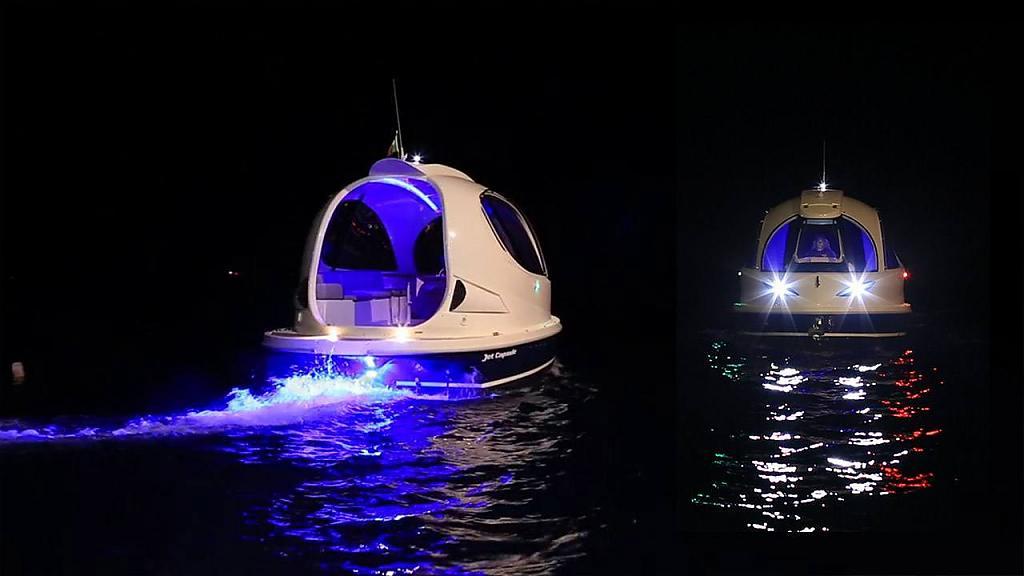 Неоновая подсветка мини-яхты Jet Capsule