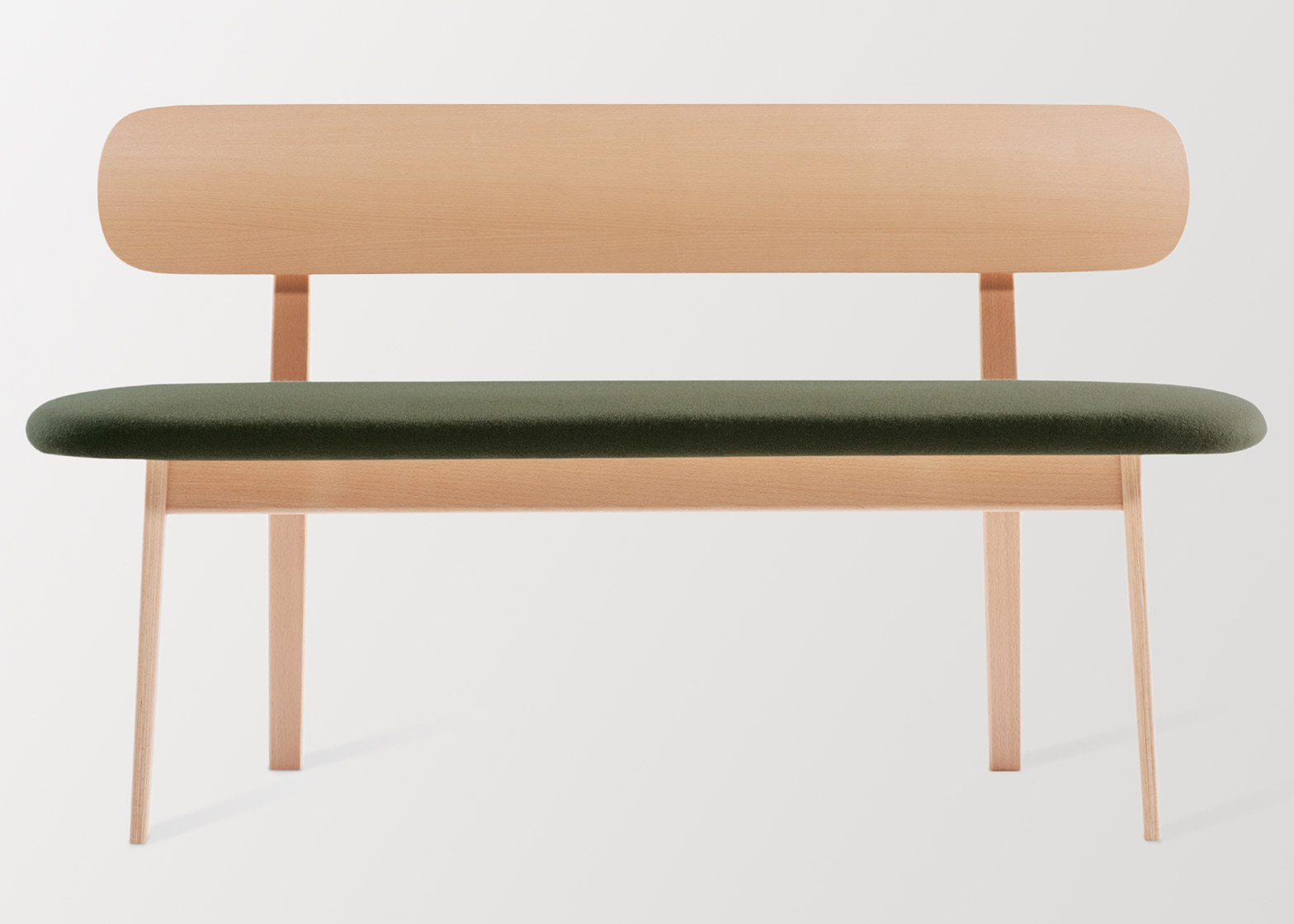 Коллекция офисной мебели: деревянная скамья