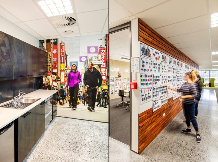 Комфортный офис компании Kathmandu - первый этаж и витрина