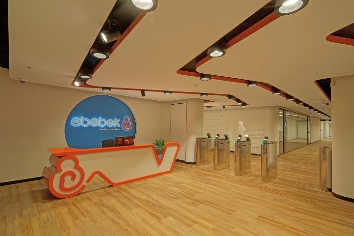 Комфортный офис фирмы E Bebek: белый цвет в оформлении