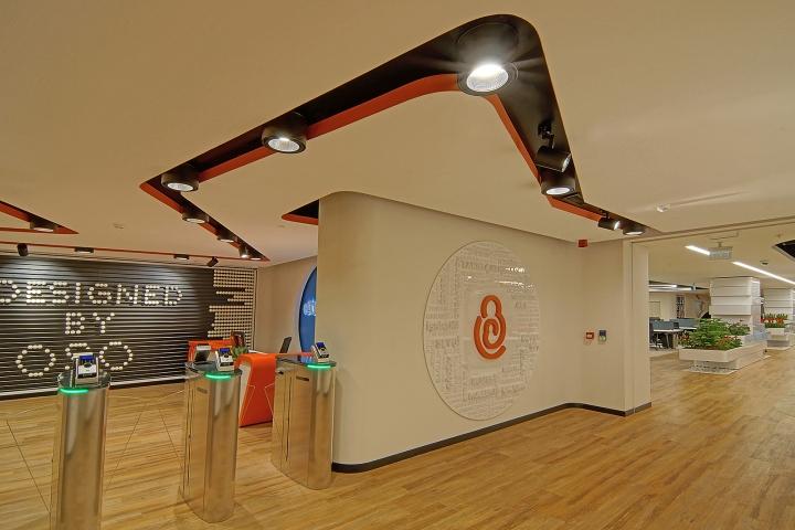 Комфортный офис фирмы E Bebek: оранжевый цвет