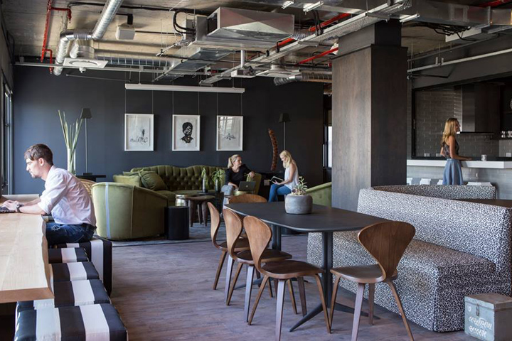 Коворкинг-офис компании Work & Co - креативный дизайн интерьера