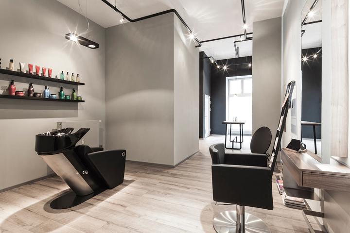 Красивый интерьер салона красоты Bailas Contemporary Coiffure