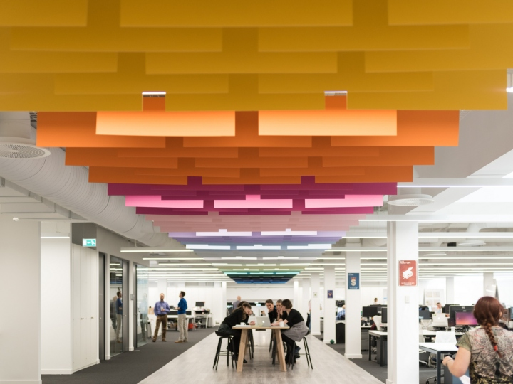 Креативное оформление офиса: открытое пространство для командной работы