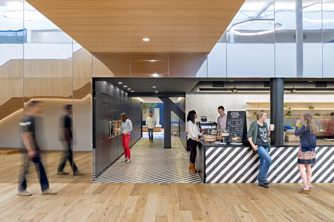 Креативное оформление офиса - кафе