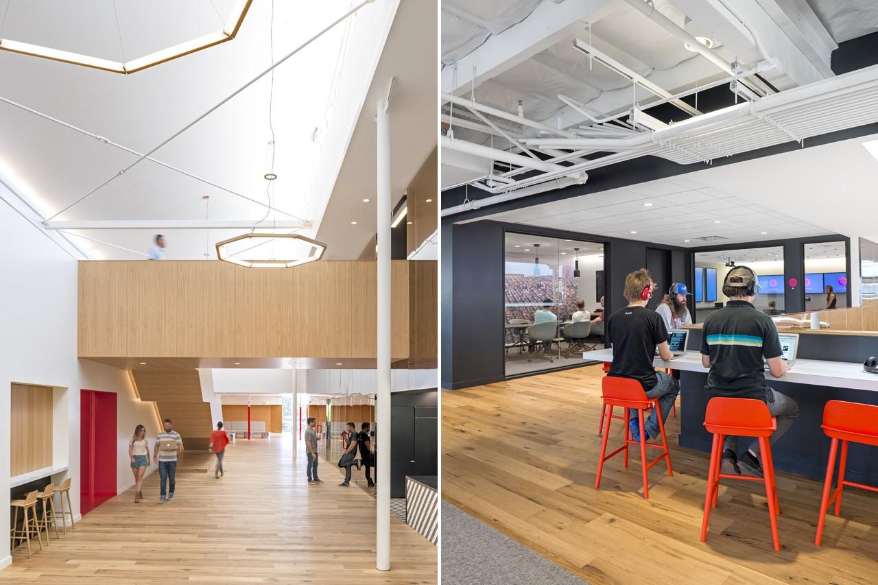 Креативное оформление офиса - просторные коридоры