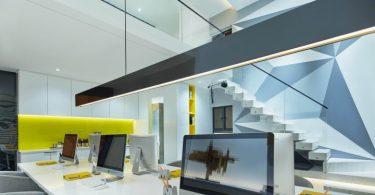 Компания C&C Design Co создала проект креативного офрмления офиса для архитектурной студии в Гуанчжоу