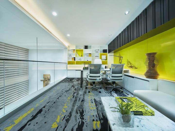 Стильный дизайн кабинета в креативном оформлении офиса - Фото 1