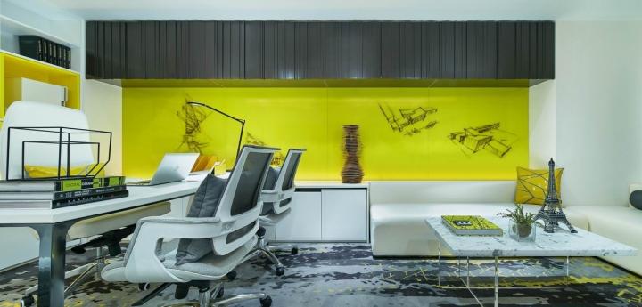 Стильный дизайн кабинета в креативном оформлении офиса - Фото 2