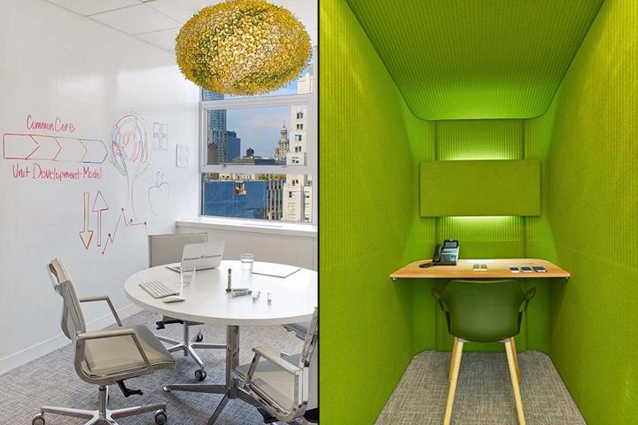 Яркий дизайн кабинетов в офисе