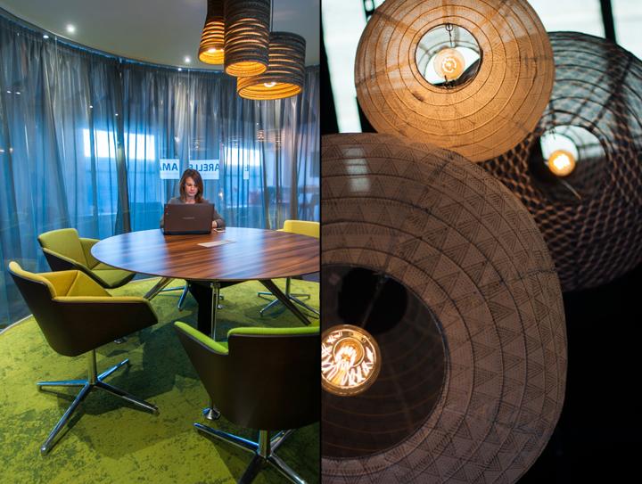 Оригинальные светильники в интерьере креативного офиса