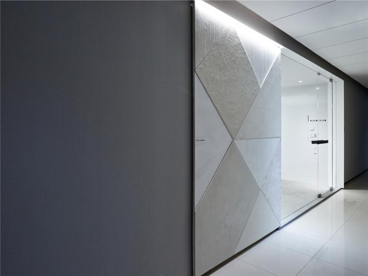 Лаконичный дизайн интерьера офиса в Шанхае - вход в офис