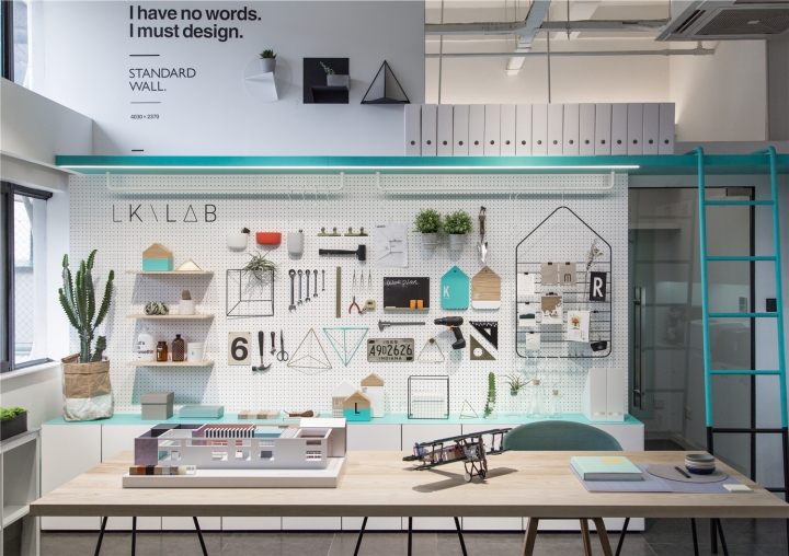 Лаконичный дизайн интерьера офиса в Шанхае - творческая мастерская