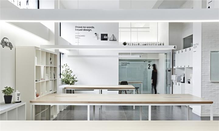 Лаконичный дизайн интерьера офиса в Шанхае - геометрия в дизайне