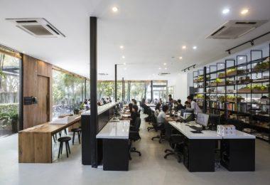 Интерьер рабочего офиса в Хошимине