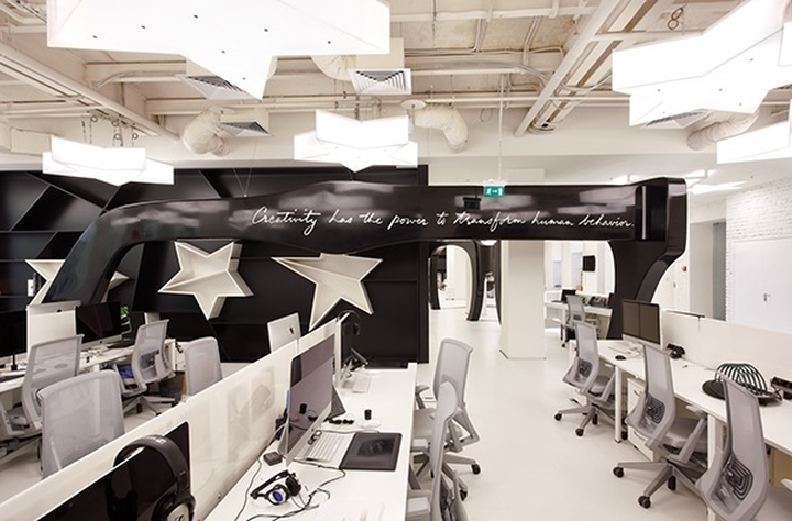 Офис с открытой планировкой для рабочих мест