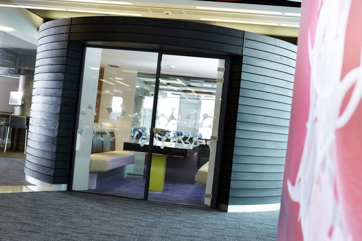 Комната для мультимедиа в штаб-квартире представительства Welsh Government's new Life Sciences Hub