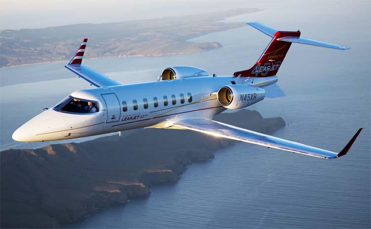 Learjet 45XR - известная модель в классе лёгких реактивных самолётов